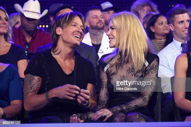 Keith Urban and Nicole Kidman attend the 2017 CMT Music Awards at the Music City Center on June 6 2017 in Nashville Tennessee