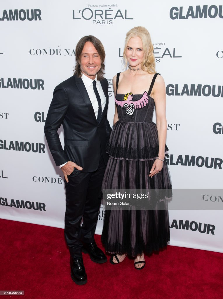 Keith Urban and Nicole Kidman attend the 2017 Glamour Women of The Year Awards at Kings Theatre on November 13, 2017 in New York City.