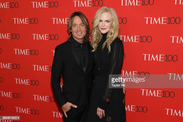 Keith Urban and Nicole Kidman attend the 2018 Time 100 Gala at Frederick P Rose Hall Jazz at Lincoln Center on April 24 2018 in New York City