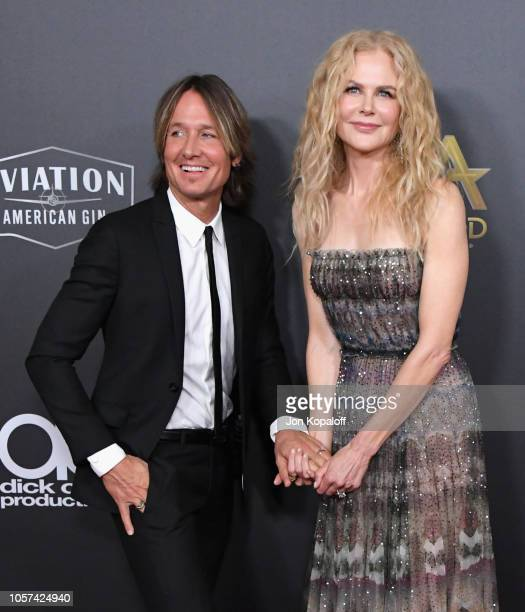 Keith Urban and Nicole Kidman attend the 22nd Annual Hollywood Film Awards at The Beverly Hilton Hotel on November 4 2018 in Beverly Hills California
