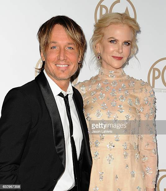 Keith Urban and Nicole Kidman attend the 28th annual Producers Guild Awards at The Beverly Hilton Hotel on January 28 2017 in Beverly Hills California