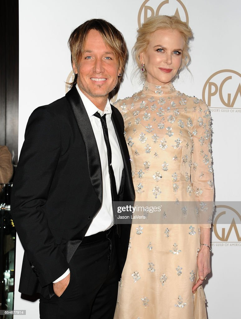 Keith Urban and Nicole Kidman attend the 28th annual Producers Guild Awards at The Beverly Hilton Hotel on January 28, 2017 in Beverly Hills, California.