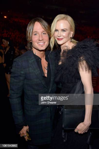 Keith Urban and Nicole Kidman attend the 52nd annual CMA Awards at the Bridgestone Arena on November 14 2018 in Nashville Tennessee