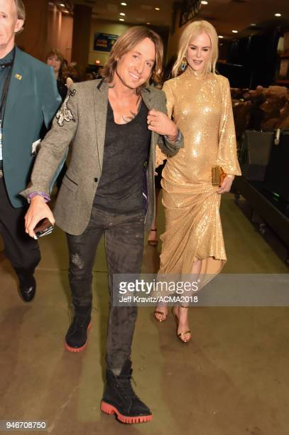 Keith Urban and Nicole Kidman attend the 53rd Academy of Country Music Awards at MGM Grand Garden Arena on April 15 2018 in Las Vegas Nevada