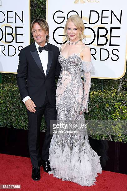 Keith Urban and Nicole Kidman attend the 74th Annual Golden Globe Awards at The Beverly Hilton Hotel on January 8 2017 in Beverly Hills California