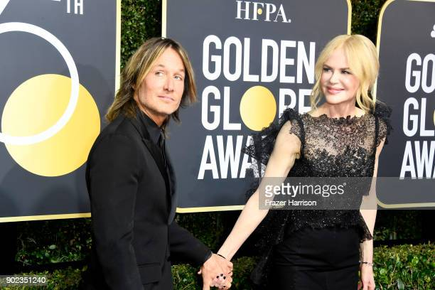 Keith Urban and Nicole Kidman attend The 75th Annual Golden Globe Awards at The Beverly Hilton Hotel on January 7 2018 in Beverly Hills California