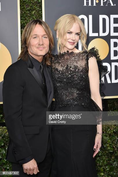 Keith Urban and Nicole Kidman attend the 75th Annual Golden Globe Awards Arrivals at The Beverly Hilton Hotel on January 7 2018 in Beverly Hills...