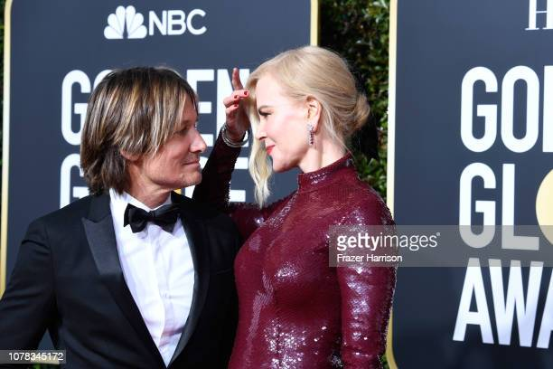 Keith Urban and Nicole Kidman attend the 76th Annual Golden Globe Awards at The Beverly Hilton Hotel on January 6 2019 in Beverly Hills California