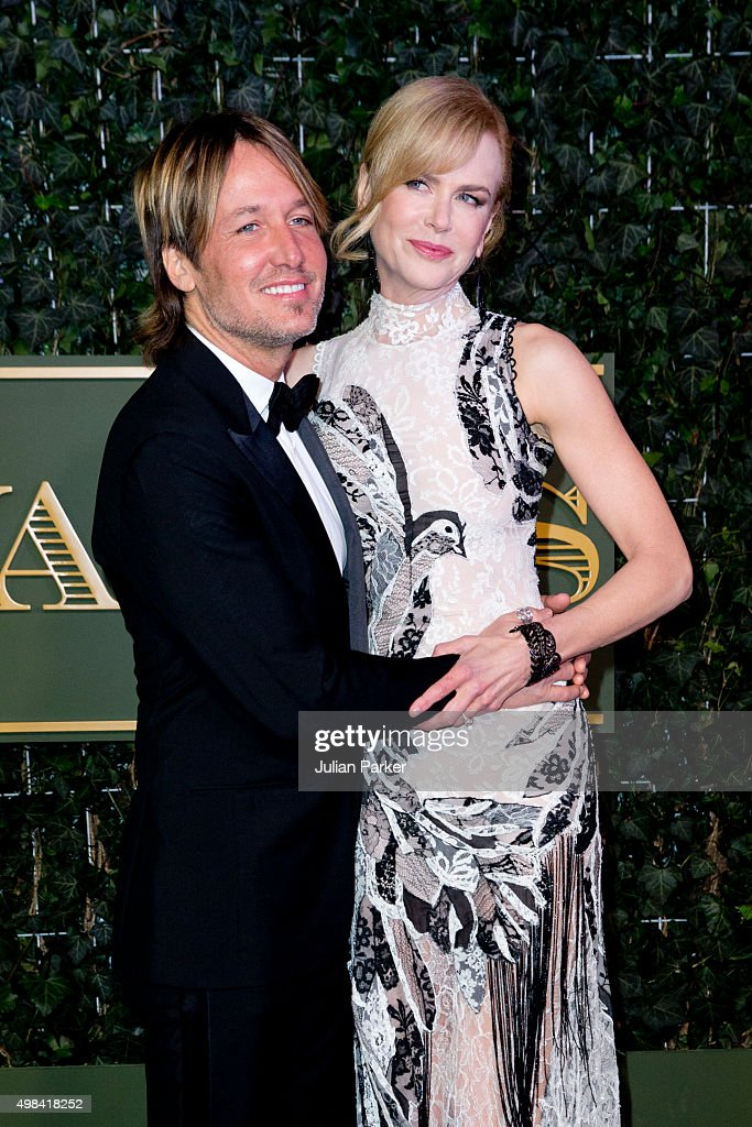 Keith Urban, and Nicole Kidman attend the Evening Standard Theatre Awards at The Old Vic Theatre on November 22, 2015 in London, England.