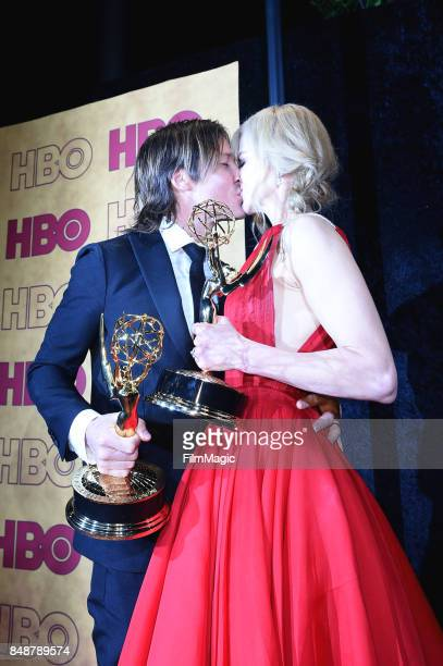 Keith Urban and Nicole Kidman attend the HBO's Official 2017 Emmy After Party at The Plaza at the Pacific Design Center on September 17 2017 in Los...