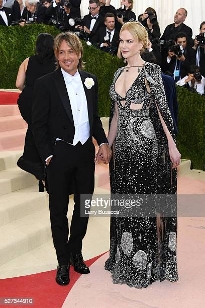 Keith Urban and Nicole Kidman attend the 'Manus x Machina Fashion In An Age Of Technology' Costume Institute Gala at Metropolitan Museum of Art on...