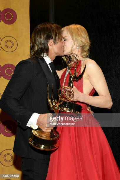 Keith Urban and Nicole Kidman attends HBO's Post Emmy Awards Reception at The Plaza at the Pacific Design Center on September 17 2017 in Los Angeles...