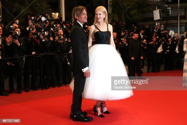 Keith Urban and Nicole Kidman depart after the The Killing Of A Sacred Deer screening during the 70th annual Cannes Film Festival at Palais des...