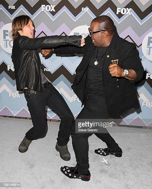 Keith Urban and Randy Jackson arrives at the 2013 TCA Winter Press Tour - FOX All-Star Party at The Langham Huntington Hotel and Spa on January 8,...