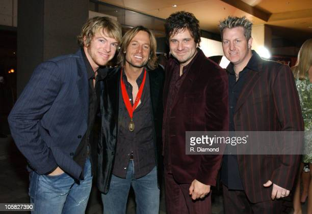 Keith Urban and Rascal Flatts during 52nd Annual BMI Country Awards - Arrivals at BMI in Nashville, Tennessee, United States.