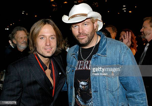 Keith Urban and Toby Keith during 2003 BMI Country Music Awards at BMI Nashville in Nashville Tennessee United States