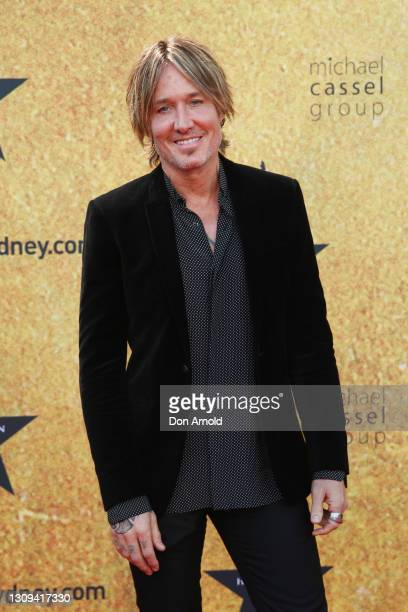 Keith Urban attends the Australian premiere of Hamilton at Lyric Theatre, Star City on March 27, 2021 in Sydney, Australia.