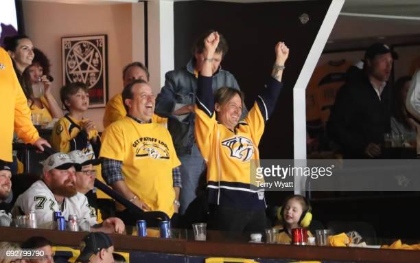 Keith Urban attends the Stanley Cup Finals Game 4 Nashville Predators Vs Pittsburgh Penguins at Bridgestone Arena at Bridgestone Arena on June 5 2017...