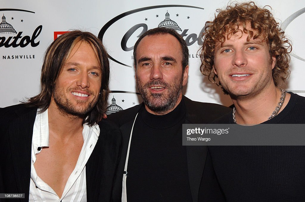 Keith Urban, David Munns and Dierks Bentley during The 39th Annual CMA Awards - Capital Records Post Party - Red Carpet and Inside at Nikki Beach in New York City, New York, United States.
