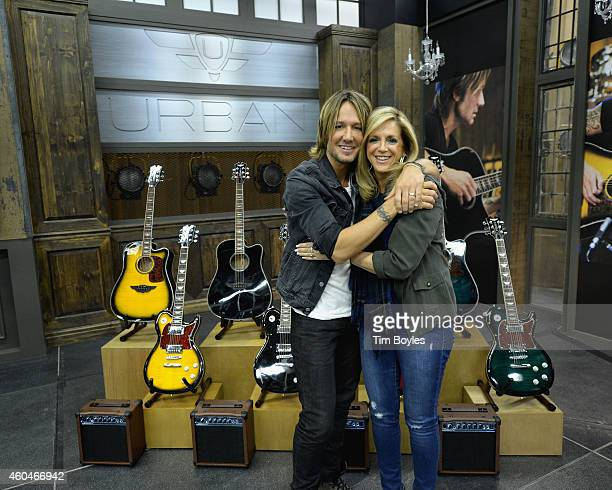Keith Urban debuts his latest PLAYER guitar collection at HSN with Joy Mangano on December 14th 2014 in St Petersburg Florida The collection is...