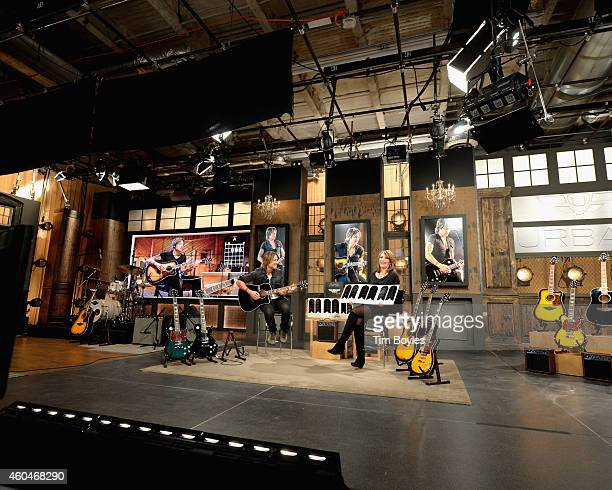 Keith Urban Debuts his Latest PLAYER Guitar Collection at HSN with Host Colleen Lopez on December 14th in St Petersburg Florida The collection is...
