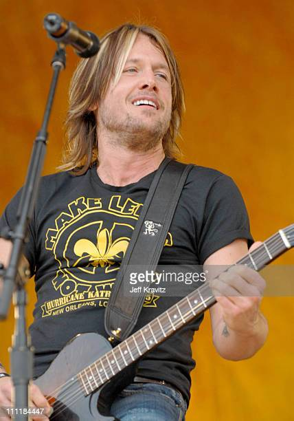 Keith Urban during 37th Annual New Orleans Jazz Heritage Festival Presented by Shell Keith Urban at New Orleans Fair Grounds in New Orleans Louisiana...