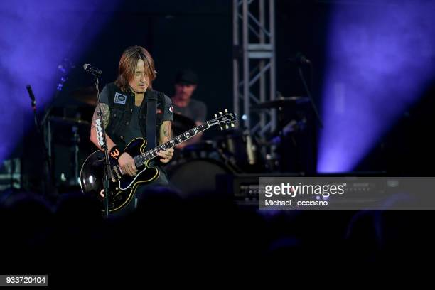 Keith Urban in Concert during SXSW at Stubbs on March 16 2018 in Austin Texas
