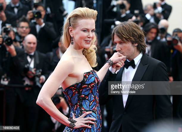 Keith Urban kisses Jury member Nicole Kidman hand at the Premiere of 'Inside Llewyn Davis' at The 66th Annual Cannes Film Festival on May 19 2013 in...