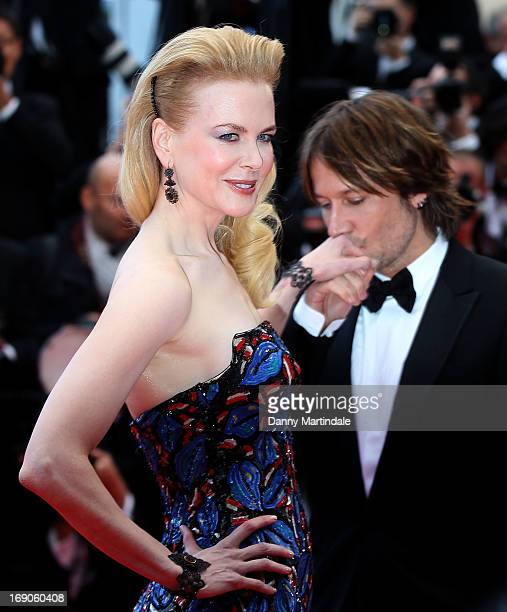 Keith Urban kisses Jury member Nicole Kidman's hand at the Premiere of 'Inside Llewyn Davis' at The 66th Annual Cannes Film Festival on May 19 2013...
