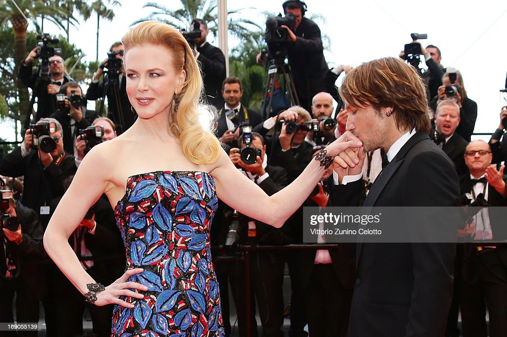 Keith Urban kisses the hand of jury member Nicole Kidman as they attend the 'Inside Llewyn Davis' Premiere during the 66th Annual Cannes Film Festival at Palais des Festivals on May 19, 2013 in Cannes, France.