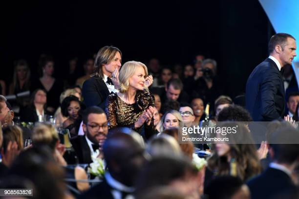 Keith Urban Nicole Kidman and Alexander Skarsgard attend the 24th Annual Screen Actors Guild Awards at The Shrine Auditorium on January 21 2018 in...