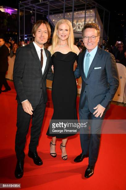 Keith Urban Nicole Kidman and Bryan Cranston attend 'The Upside' premiere during the 2017 Toronto International Film Festival at Roy Thomson Hall on...