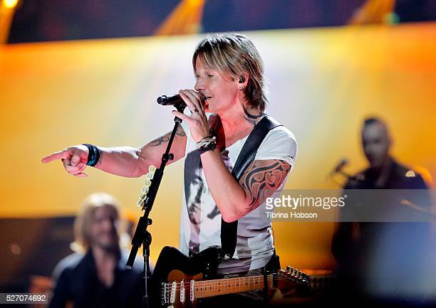 Keith Urban performs at 2016 iHeartCountry Festival at The Frank Erwin Center on April 30 2016 in Austin Texas