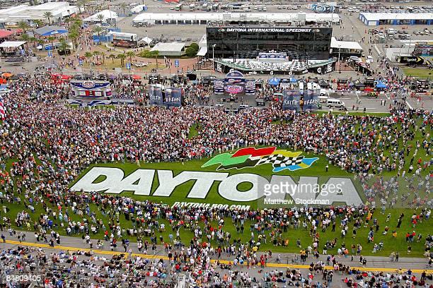 Keith Urban performs before the NASCAR Sprint Cup Series Daytona 500 at Daytona International Speedway on February 15 2009 in Daytona Beach Florida