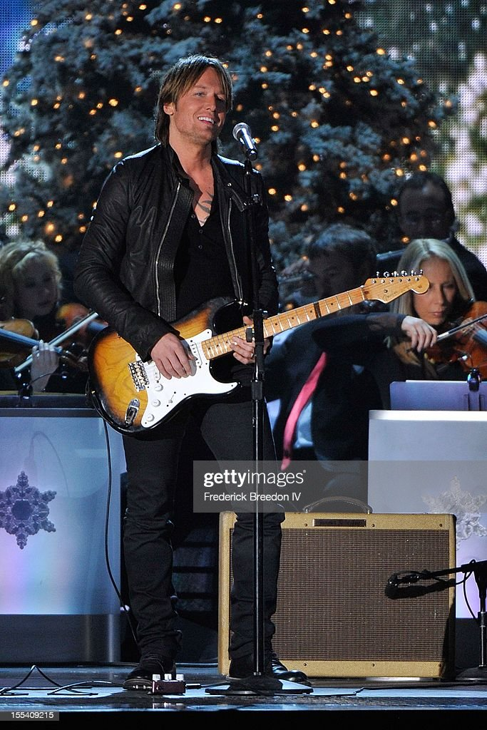 Keith Urban performs during the 2012 Country Christmas at the Bridgestone Arena on November 3, 2012 in Nashville, United States.