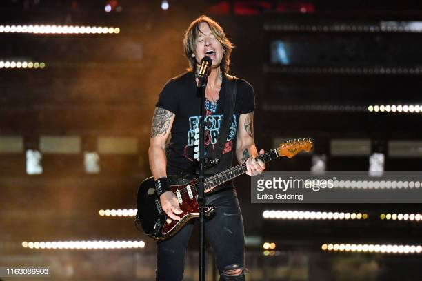 Keith Urban performs during the 2019 Faster Horses Festival at Michigan International Speedway on July 19 2019 in Brooklyn Michigan