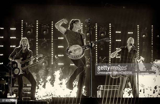 Keith Urban performs during the 51st Academy Of Country Music Awards held at MGM Grand Garden Arena on April 03 2016 in Las Vegas Nevada