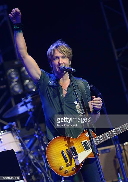 Keith Urban performs Keith Urban's Fifth Annual We're All 4 The Hall Benefit Concert at the Bridgestone Arena on May 6 2014 in Nashville Tennessee