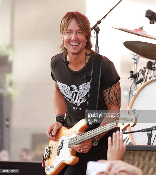 Keith Urban performs on NBC's Today at Rockefeller Plaza on August 7 2015 in New York City