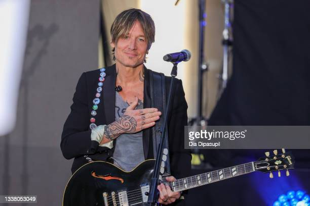"""Keith Urban Performs On """"Today"""" at Rockefeller Plaza on September 03, 2021 in New York City."""