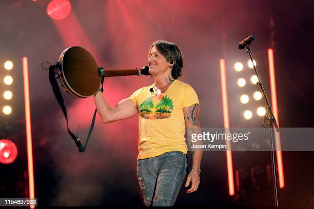 Keith Urban performs onstage during day 3 of the 2019 CMA Music Festival on June 8 2019 in Nashville Tennessee