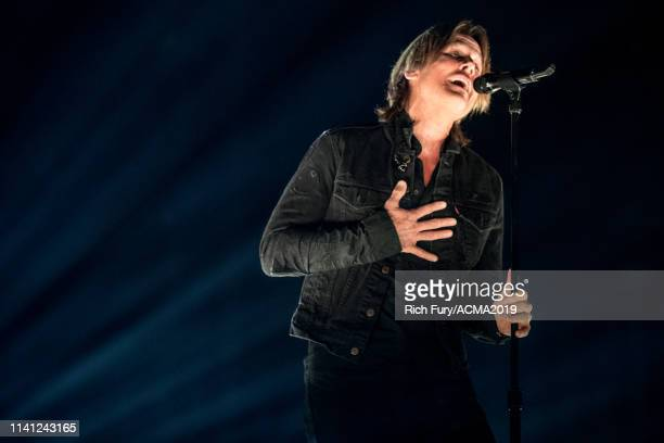 Keith Urban performs onstage during the 54th Academy Of Country Music Awards at MGM Grand Garden Arena on April 07 2019 in Las Vegas Nevada