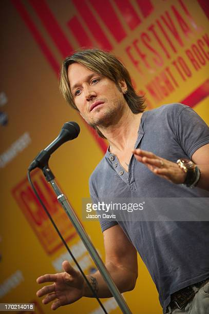 Keith Urban speaks at a press conference at the 2013 CMA Music Festival on June 8 2013 in Nashville Tennessee