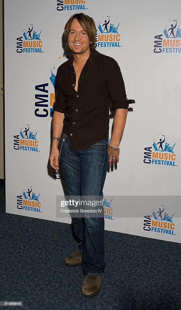Keith Urban visits the press room at the VAULT Concert Stages during the 2008 CMA Music Festival on June 6, 2008 at LP Field in Nashville, Tennessee.