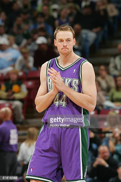 Keith Van Horn of the Milwaukee Bucks stands on the court during the game  with the f76b878d4