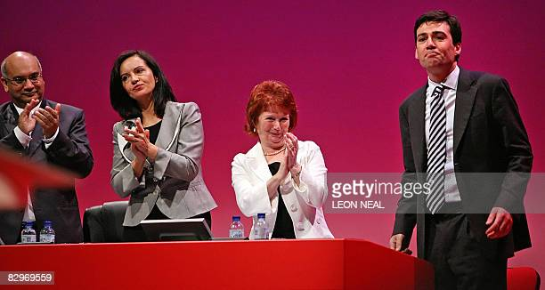 Keith Vaz MP Minister for Housing Caroline Flint and Secretary of State for Communities and Local Government Hazel Blears congratulate Minister for...