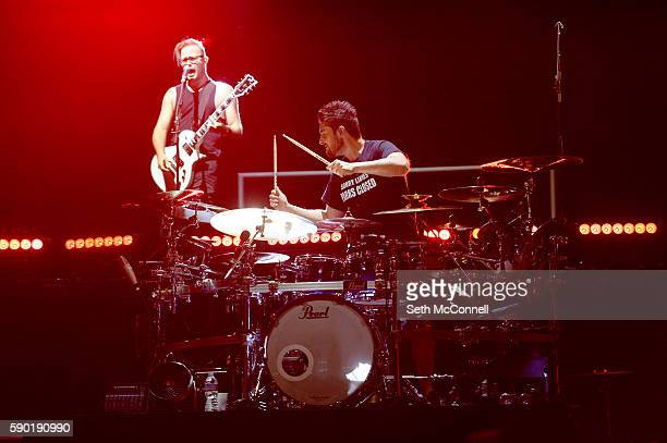 Keith Wallen and Shaun Foist of Breaking Benjamin performs at Red Rocks Amphitheatre in Morrison Colorado on August 15 2016