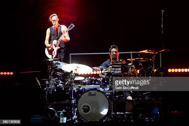 Keith Wallen of Breaking Benjamin performs at Red Rocks Amphitheatre in Morrison Colorado on August 15 2016