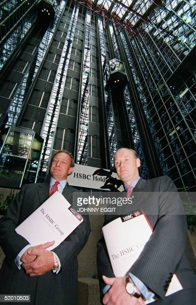 Keith Whitson Group Executive and Douglas Flint Group Finance Director HSBC Holdings plc at HSBC in the City of London 03 August after the company...