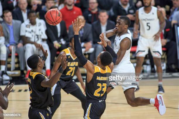 Keith Williams of the Cincinnati Bearcats passes the ball in the game against the ArkansasPine Bluff Golden Lions in the second half at Fifth Third...
